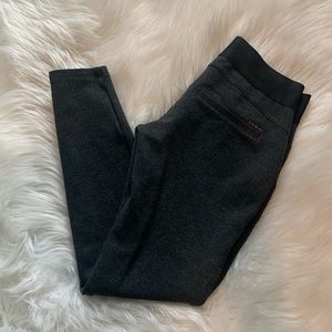 Bebe Charcoal Grey Low Rise Cropped Leggings XS
